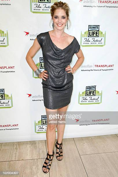Actress Christina Moore attends the Donate Life Hollywood Film Festival at The Paley Center for Media on June 11 2010 in Beverly Hills California