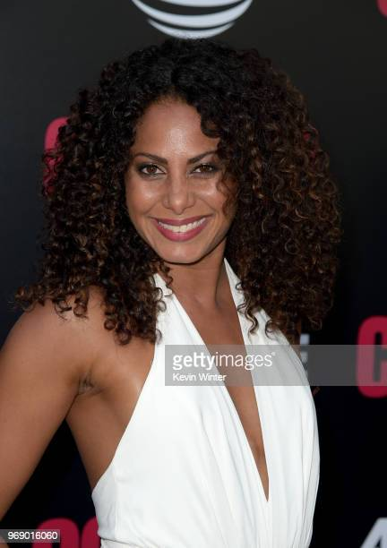 Actress Christina Moses arrives at the premiere of ATT Audience Network's Condor at NeueHouse on June 6 2018 in Los Angeles California