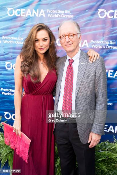 Actress Christina Ochoa and Oceana CEO Andy Sharpless attend the 11th Annual SeaChange Summer Party on July 21, 2018 in Laguna Beach, California.