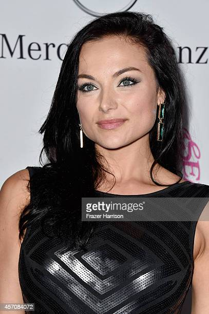 Actress Christina Ochoa attends the 2014 Carousel of Hope Ball presented by MercedesBenz at The Beverly Hilton Hotel on October 11 2014 in Beverly...