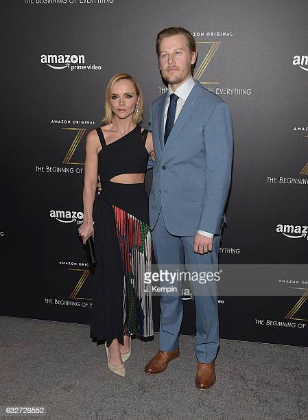 Actress Christina Ricci and actor David Hoflin attend Amazon's New Series 'Z The Beginning Of Everything' Premiere at SVA Theatre on January 25 2017...