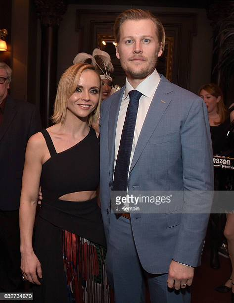 Actress Christina Ricci and actor David Hoflin attend the afterparty for Amazon's New Series 'Z The Beginning Of Everything' Premiere at The NoMad...