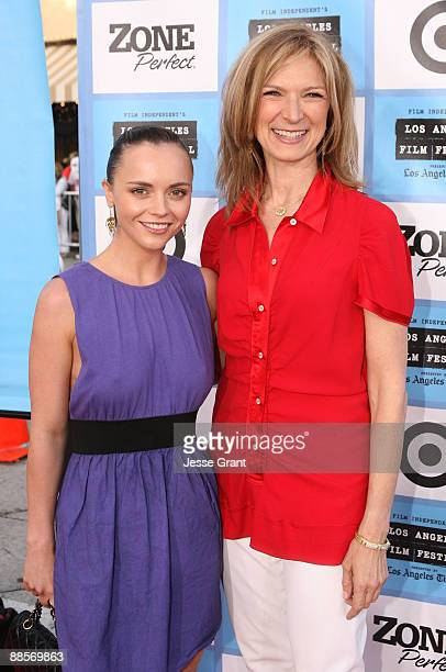 Actress Christina Ricci and Film Independent Executive Director Dawn Hudson arrive at the 2009 Los Angeles Film Festival's Opening Night Premiere of...