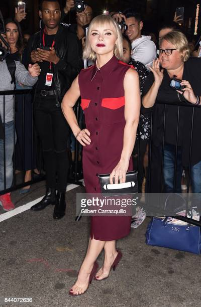 Actress Christina Ricci arrives at Calvin Klein Collection fashion show during New York Fashion Week on September 7 2017 in New York City
