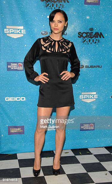 Actress Christina Ricci arrives at Spike TV's SCREAM 2009 Awards at The Greek Theatre on October 17 2009 in Los Angeles California