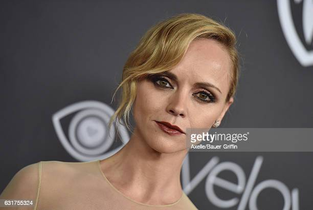 Actress Christina Ricci arrives at the 18th Annual PostGolden Globes Party hosted by Warner Bros Pictures and InStyle at The Beverly Hilton Hotel on...