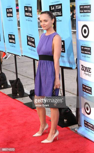 """Actress Christina Ricci arrives at the 2009 Los Angeles Film Festival's Opening Night Premiere of """"Paper Man"""" held at the Mann Village Theatre on..."""