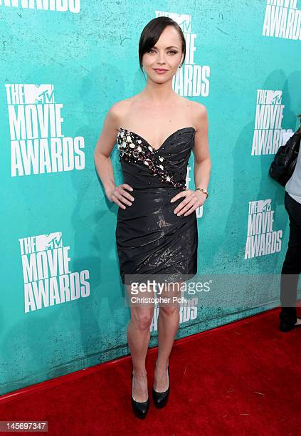 Actress Christina Ricci arrives at the 2012 MTV Movie Awards held at Gibson Amphitheatre on June 3, 2012 in Universal City, California.