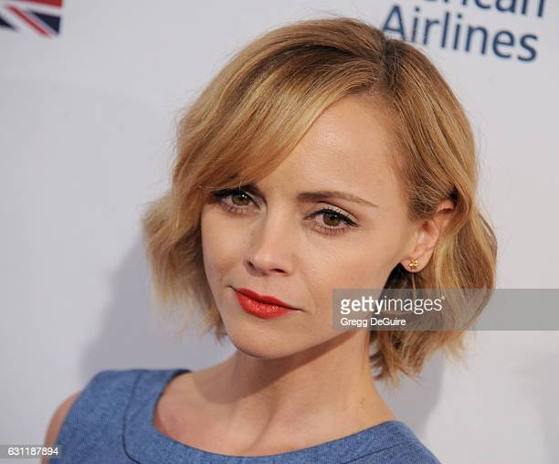 Actress Christina Ricci arrives at The BAFTA Tea Party at Four Seasons Hotel Los Angeles at Beverly Hills on January 7 2017 in Los Angeles California