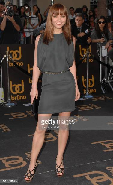 Actress Christina Ricci arrives at the Los Angeles Premiere 'Bruno' at Grauman's Chinese Theatre on June 25 2009 in Hollywood California
