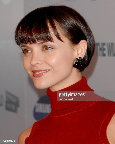 Actress Christina Ricci arrives at the Los Angeles Premiere Into The Wild at the Directors Guild of America on September 18 2007 in West Hollywood...