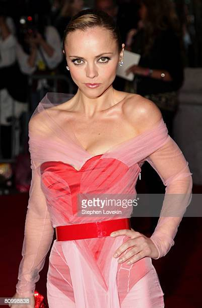 Actress Christina Ricci arrives at the Metropolitan Museum of Art Costume Institute Gala Superheroes Fashion and Fantasy held at the Metropolitan...