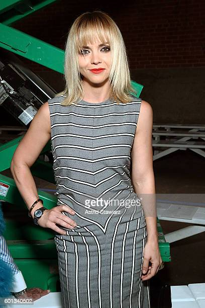 Actress Christina Ricci attends front row at Monse September 2016 New York Fashion Week at Art Beam on September 9 2016 in New York City