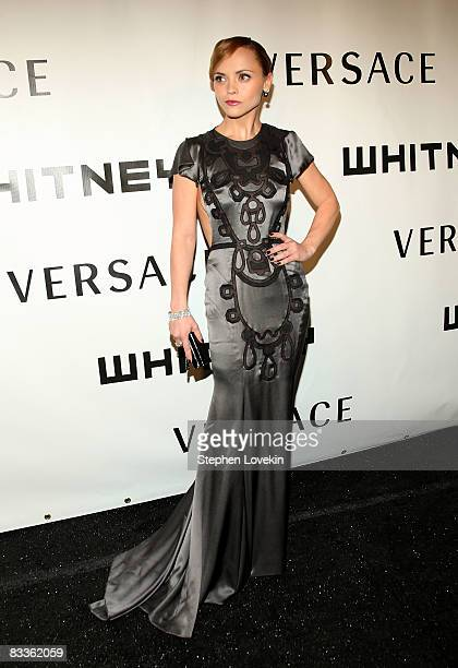 Actress Christina Ricci attends the 2008 Whitney Museum of American Art's gala and studio party at the Whitney Museum of American Art on October 20...