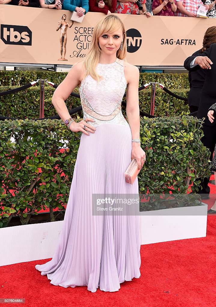Actress Christina Ricci attends the 22nd Annual Screen Actors Guild Awards at The Shrine Auditorium on January 30, 2016 in Los Angeles, California.