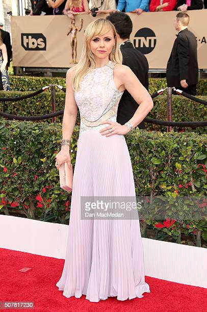 Actress Christina Ricci attends the 22nd Annual Screen Actors Guild Awards at The Shrine Auditorium on January 30 2016 in Los Angeles California