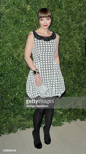 Actress Christina Ricci attends the 7th Annual CFDA/Vogue Fashion Fund awards at Skylight SOHO on November 15, 2010 in New York City.