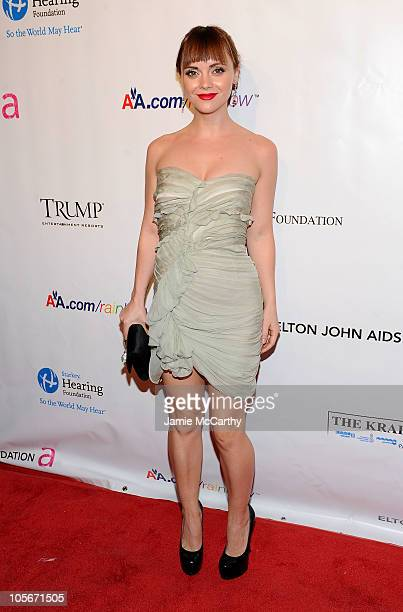 Actress Christina Ricci attends the 9th Annual Elton John AIDS Foundation's An Enduring Vision benefit at Cipriani Wall Street on October 18 2010 in...