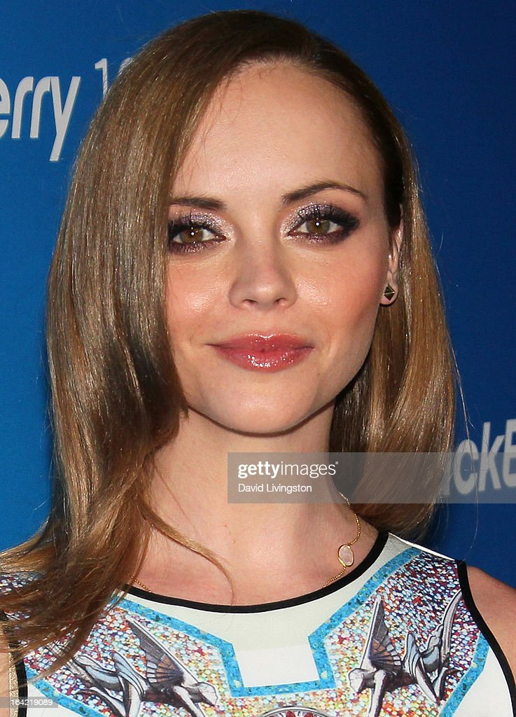 Actress Christina Ricci attends the BlackBerry Z10 Smartphone launch party at Cecconi's Restaurant on March 20, 2013 in Los Angeles, California.