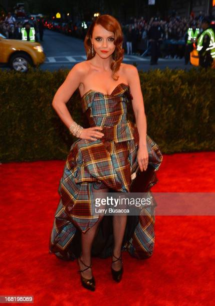 Actress Christina Ricci attends the Costume Institute Gala for the 'PUNK Chaos to Couture' exhibition at the Metropolitan Museum of Art on May 6 2013...