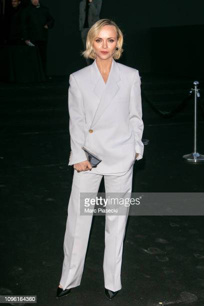 Actress Christina Ricci attends the Dior Homme Menswear Fall/Winter 20192020 show as part of Paris Fashion Week on January 18 2019 in Paris France