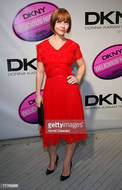 Actress Christina Ricci attends the DKNY Delicious Night fragrance launch party on November 7, 2007 in New York City.