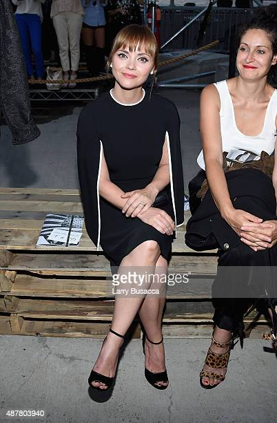 Actress Christina Ricci attends the Givenchy fashion show during Spring 2016 New York Fashion Week at Pier 26 at Hudson River Park on September 11...