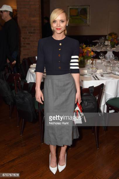 Actress Christina Ricci attends the jury welcome lunch at Tribeca Grill Loft on April 20 2017 in New York City
