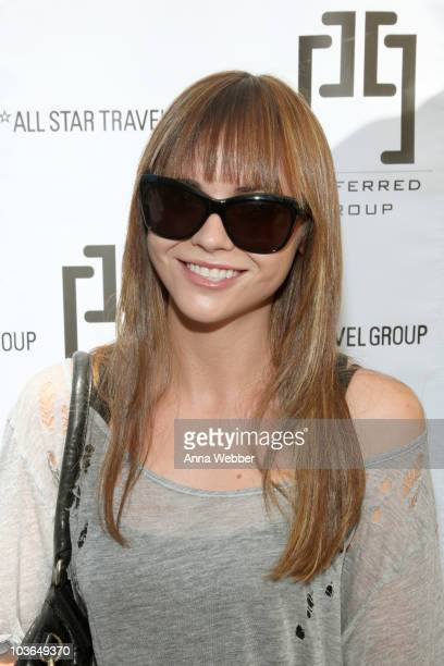 Actress Christina Ricci attends the Kari Feinstein Primetime Emmy Awards Style Lounge Day 1 held at Montage Beverly Hills hotel on August 26 2010 in...
