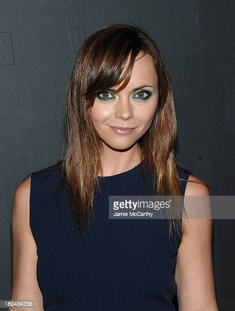 Actress Christina Ricci attends the Marc Jacobs fashion show during MercedesBenz Fashion Week Spring 2014 at the Lexington Avenue Armory on September...