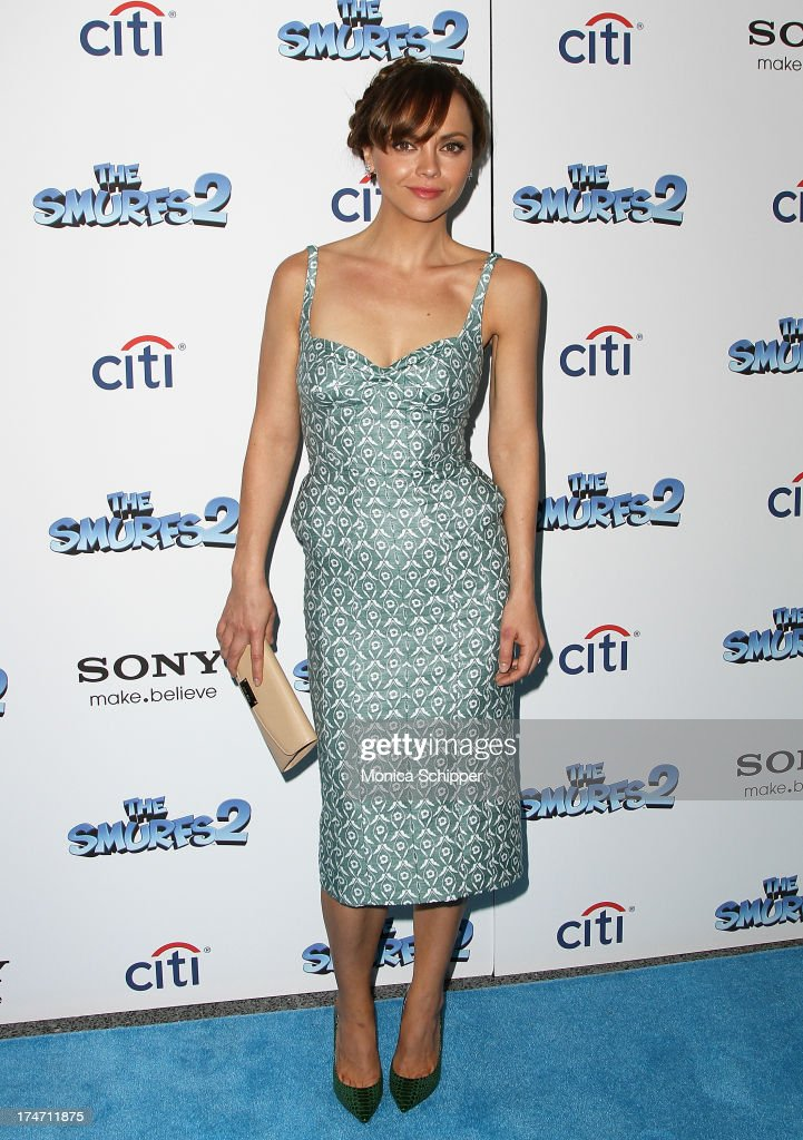 Actress Christina Ricci attends 'The Smurfs 2' New York Blue Carpet Screening at Lighthouse International Theater on July 28, 2013 in New York City.