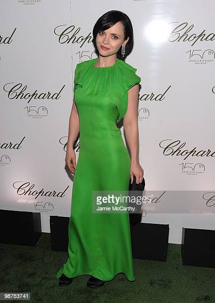 Actress Christina Ricci attends the star studded gala celebrating Chopard's 150 years of excellence at The Frick Collection on April 29, 2010 in New...