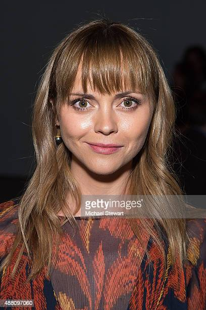 Actress Christina Ricci attends the Thakoon fashion show during Spring 2016 New York Fashion Week at SIR Stage37 on September 13, 2015 in New York...