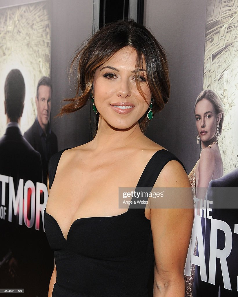 Actress Christina Rosato arrives at the premiere of Crackle's 'The Art of More' at Sony Pictures Studios on October 29, 2015 in Culver City, California.