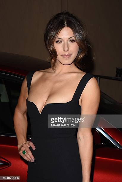 Actress Christina Rosato arrives for the premiere of Crackle's 'The Art Of More' at the Sony Pictures Studios in Culver City California on October 29...