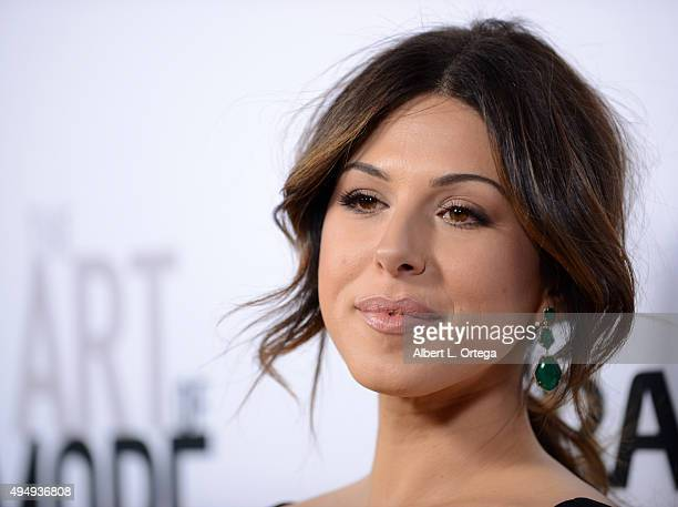 Actress Christina Rosato arrives for the Premiere Of Crackle's The Art Of More held at Sony Pictures Studios on October 29 2015 in Culver City...