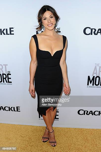 Actress Christina Rosato attends the premiere of Crackle's The Art of More at Sony Pictures Studios on October 29 2015 in Culver City California
