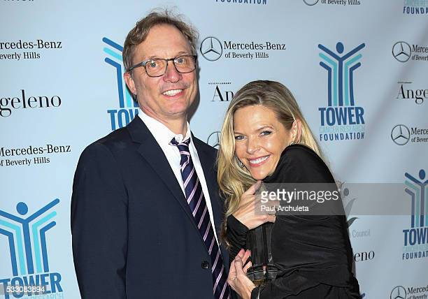 Actress Christina Simpkins and Producer Jim Burke attends the Tower Cancer Research Foundation's Tower Of Hope Gala at The Beverly Hilton Hotel on...