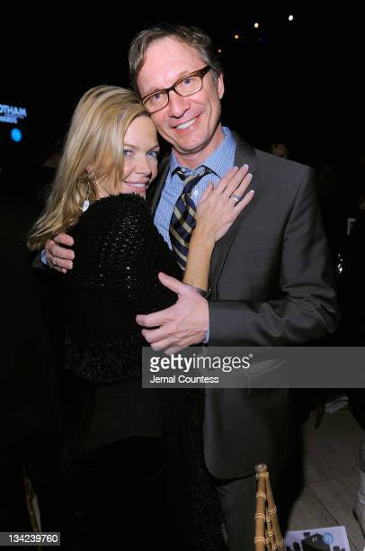 Actress Christina Simpkins and producer Jim Burke pose for a photo at Cipriani Wall Street on November 28 2011 in New York City
