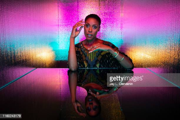 Actress Christine Adams of 'Black Lightning' is photographed for Los Angeles Times at ComicCon International on July 20 2019 in San Diego California...