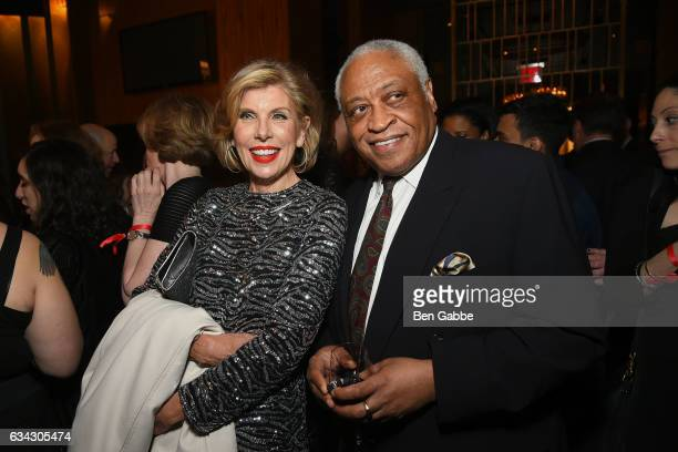 Actress Christine Baranski and actor Ron Canada attend The Good Fight World Premiere After Party at Jazz at Lincoln Center on February 8 2017 in New...