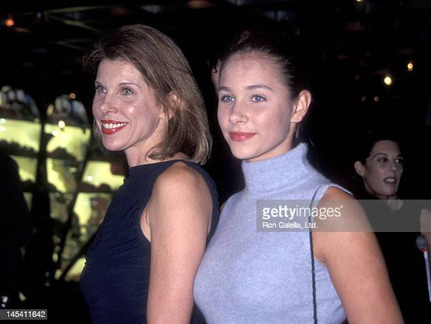Actress Christine Baranski and daughter Isabel Cowles attend the NBC Television Special Saturday Night Live 25 on September 26 1999 at NBC Studios 30...