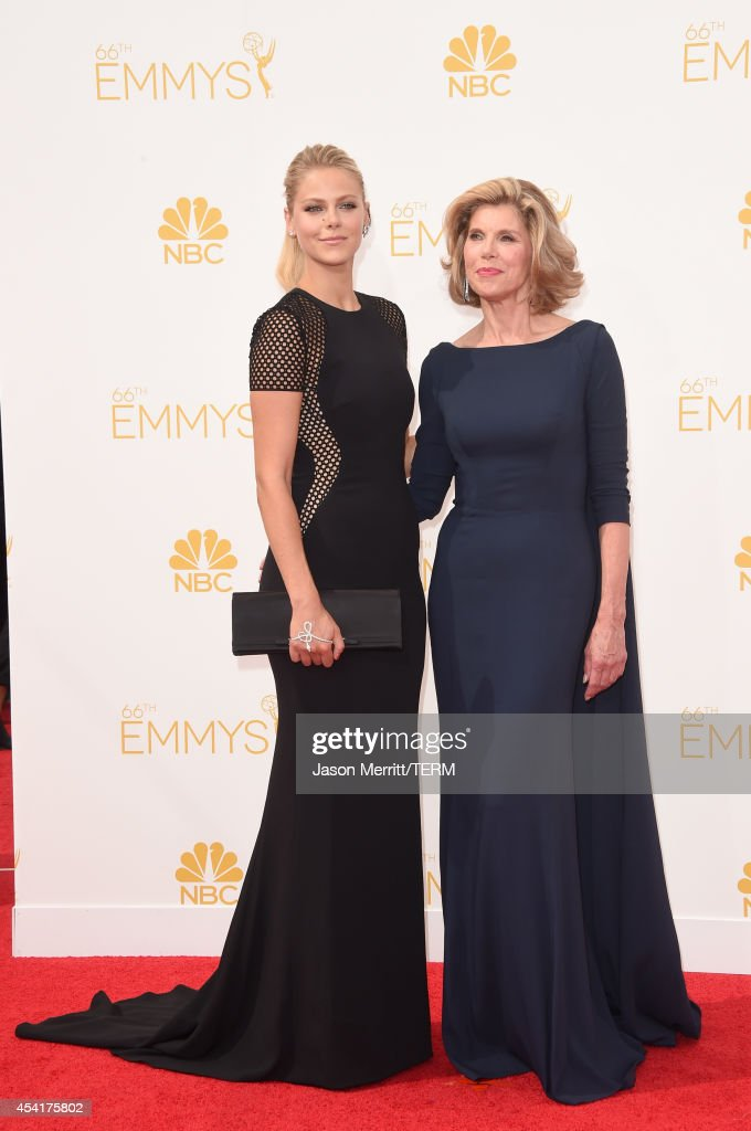 Actress Christine Baranski (R) and Lily Cowles attend the 66th Annual Primetime Emmy Awards held at Nokia Theatre L.A. Live on August 25, 2014 in Los Angeles, California.