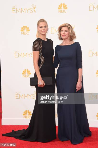Actress Christine Baranski and Lily Cowles attend the 66th Annual Primetime Emmy Awards held at Nokia Theatre LA Live on August 25 2014 in Los...