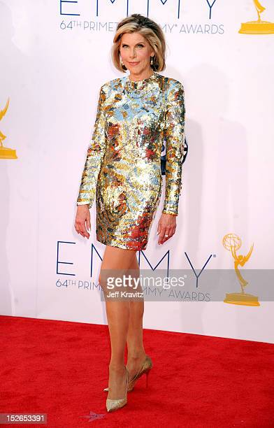 Actress Christine Baranski arrives at the 64th Primetime Emmy Awards at Nokia Theatre LA Live on September 23 2012 in Los Angeles California