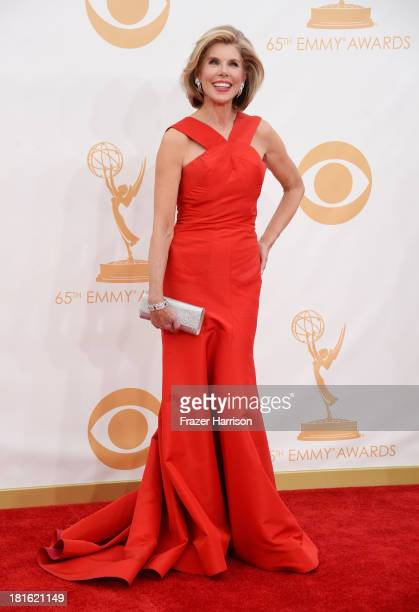 Actress Christine Baranski arrives at the 65th Annual Primetime Emmy Awards held at Nokia Theatre LA Live on September 22 2013 in Los Angeles...