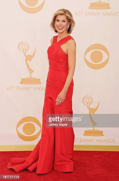 Actress Christine Baranski arrives at the 65th Annual Primetime Emmy Awards at Nokia Theatre LA Live on September 22 2013 in Los Angeles California