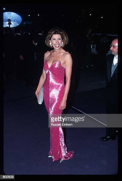 Actress Christine Baranski attends Elizabeth Taylor's 65th birthday party February 16 1997 in Los Angeles CA Twotime Academy Award winner Taylor is a...