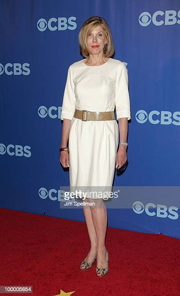 Actress Christine Baranski attends the 2010 CBS Upfront at The Tent at Lincoln Center on May 19 2010 in New York City