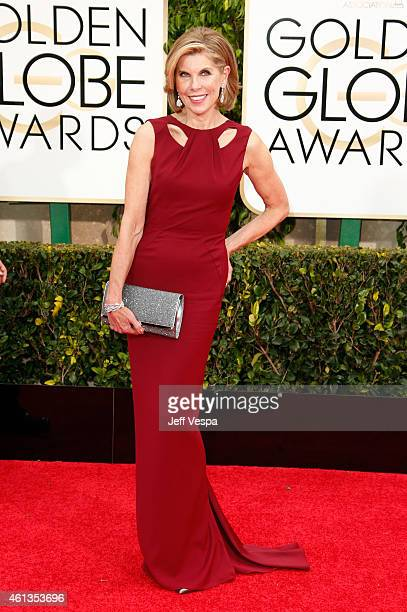 Actress Christine Baranski attends the 72nd Annual Golden Globe Awards at The Beverly Hilton Hotel on January 11 2015 in Beverly Hills California